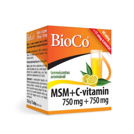BioCo MSM + C-vitamin 750 mg + 750 mg italpor