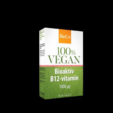 BioCo 100% VEGAN Bioaktív B12-vitamin 1000 μg 90 db