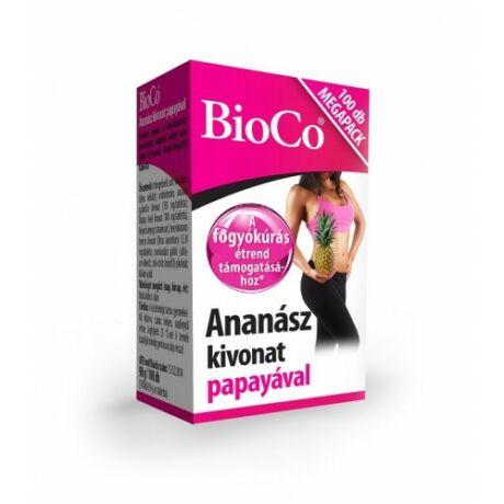 BioCo Ananász kivonat papayával MEGAPACK 100 db