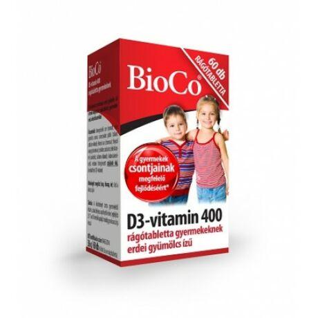 BioCo D3-vitamin 400 rágótabletta gyermekeknek 60 db