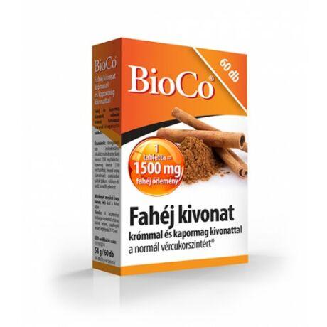 BioCo Fahéj kivonat krómmal és kapormag kivonattal 60 db