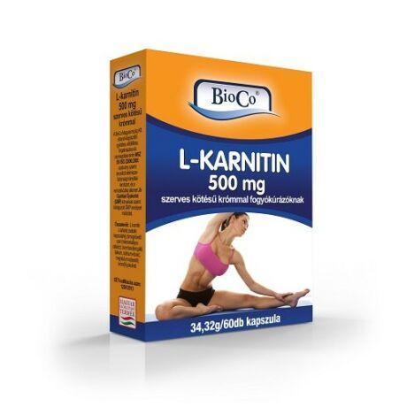 BioCo L-karnitin 500mg szerves kötésű krómmal 60 db