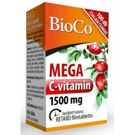BioCo MEGA C-vitamin 1500 mg Családi csomag 100 db