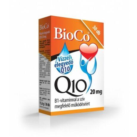 BioCo Vízzel elegyedő Q10 20 mg B1-vitaminnal 30 db