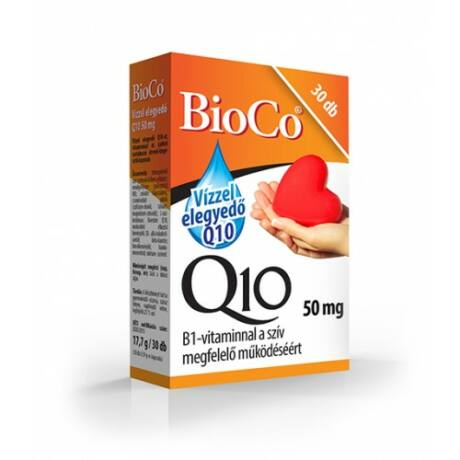 BioCo Vízzel elegyedő Q10 50 mg B1-vitaminnal 30 db